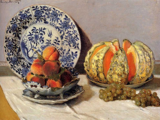 Claude Monet Kavunlu Natürmort
