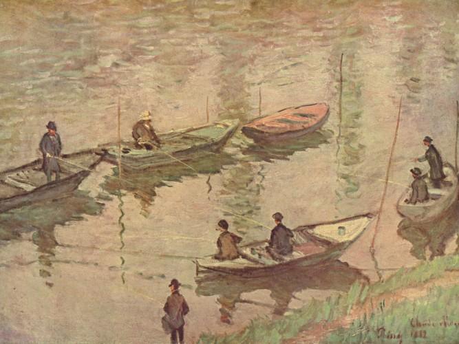 Claude Monet Sen Kıyısında Balıkçılar