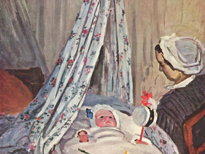 Claude Monet Beşiğinde Jean Monet