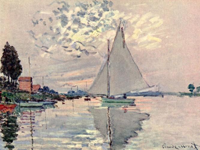 Claude Monet Gennevillier'de Yelkenli
