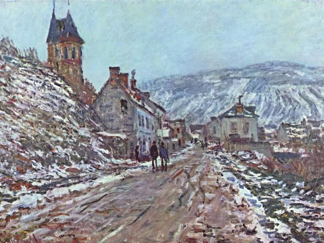 Claude Monet Vetheuil'de Köy Girişi