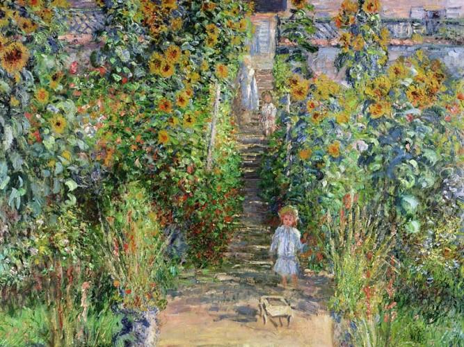 Claude Monet Sanatçının Vetheuil'deki Bahçesi