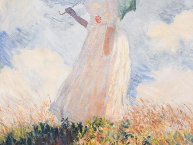 Claude Monet Şemsiyeli Kadın I