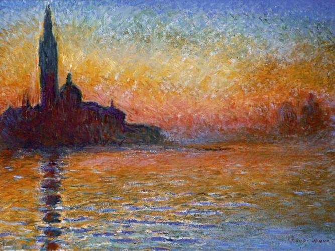 Claude Monet Akşam Karanlığında San Giorgio Manastırı