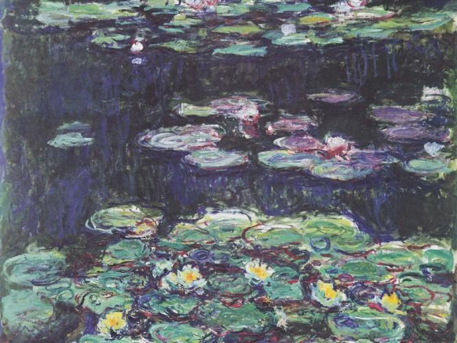 Claude Monet Beyaz ve Sarı Nilüferler