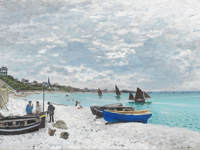 Claude Monet Sainte Adresse Sahili