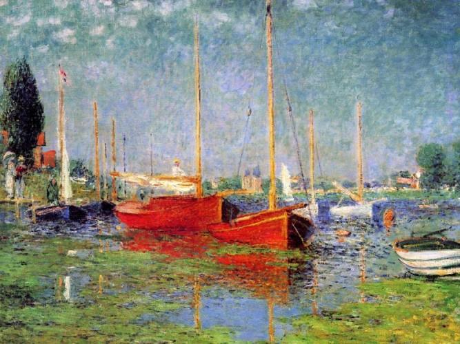 Claude Monet Argenteuil'de Yelkenliler