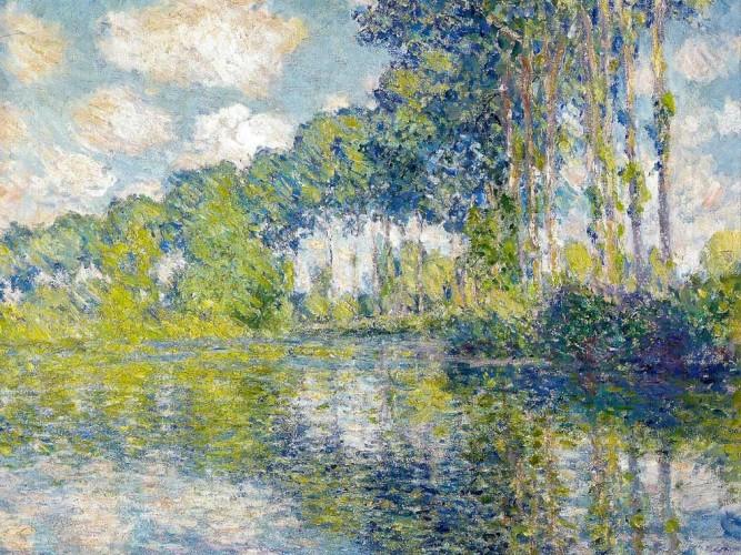 Claude Monet Nehir Kıyısında Kavaklar