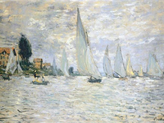 Claude Monet Argentuil'de Yelkenliler
