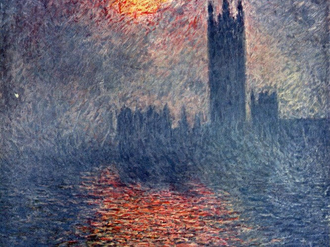 Claude Monet Günbatımında Parlemento Binası