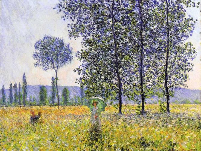 Claude Monet Kavaklar Altında Işıklar