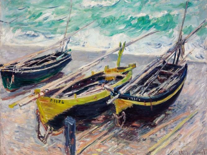 Claude Monet üç Balıkçı Sandalı