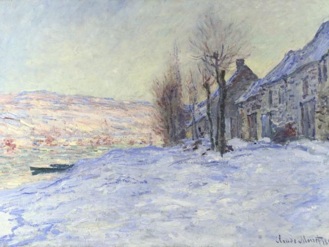 Claude Monet Lavacourt Kar Altında