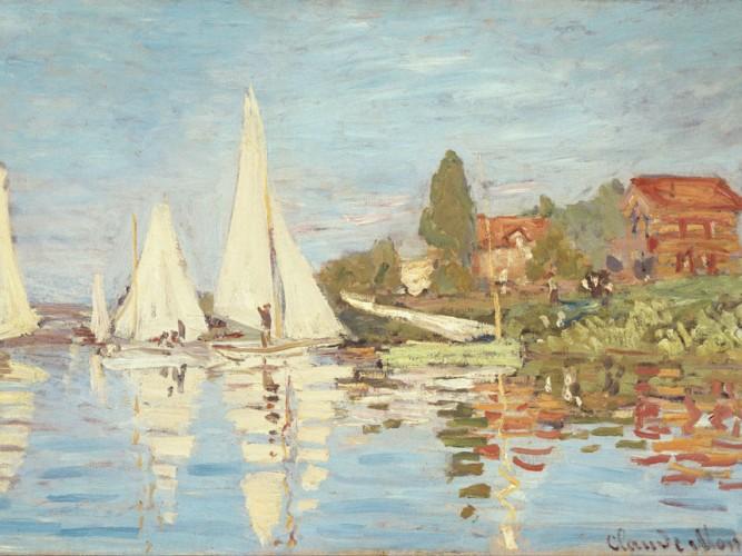 Claude Monet Argenteuil ve Yelkenliler