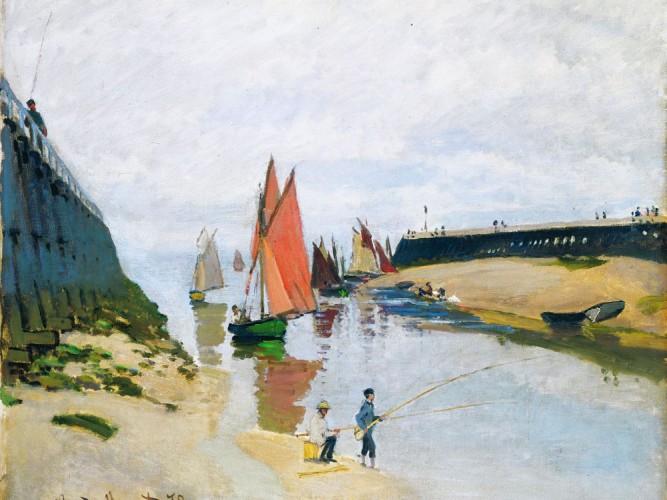 Claude Monet Trouville Liman Girişi