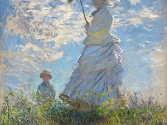 Claude Monet Şemsiyeli Kadın II