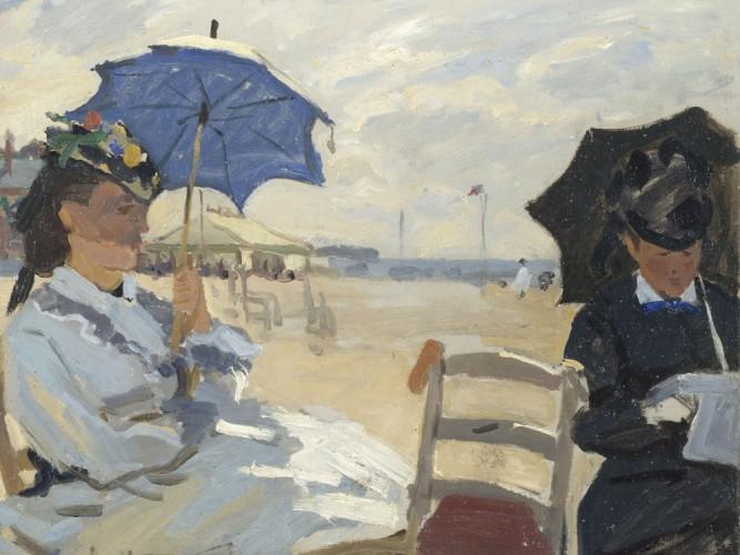 Claude Monet Trouville Sahilinde