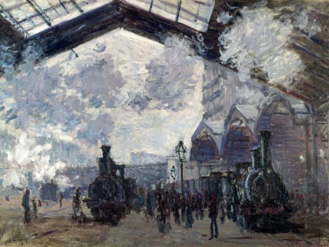 Claude Monet St Lazare Garı