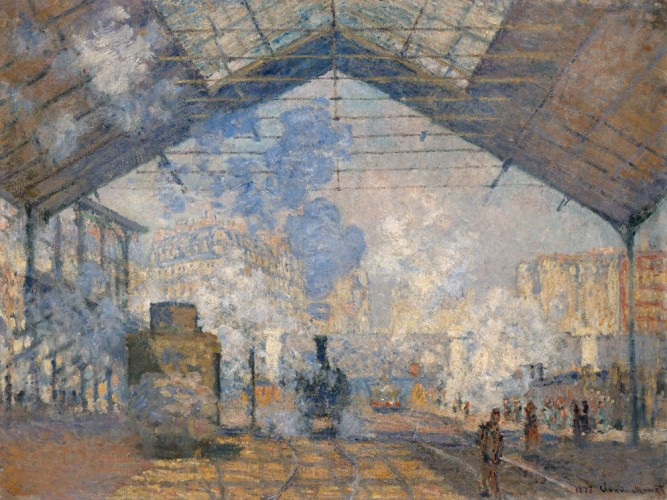 Claude Monet Saint Lazare Garı