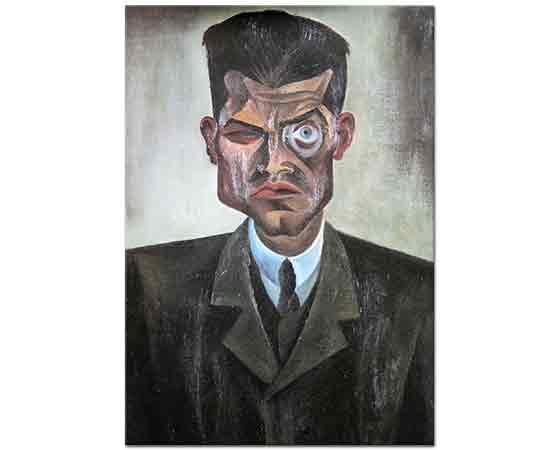 Conrad Felixmüller Raoul Hausmann'ın Portresi