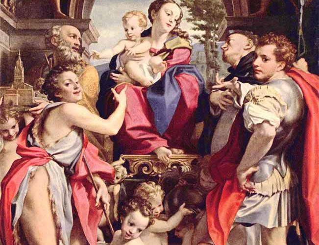 Correggio Madonna ve Aziz George