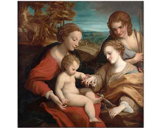 Correggio Azize Katharina'nın Mistik Evliliği