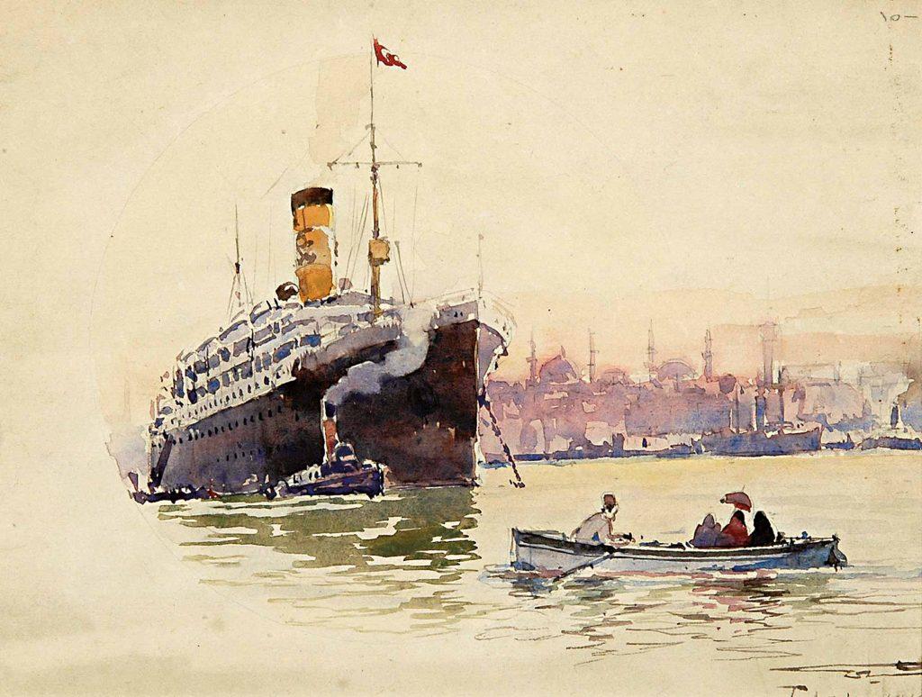 Diyarbakırlı Tahsin Istanbul'da Yolcu Gemisi