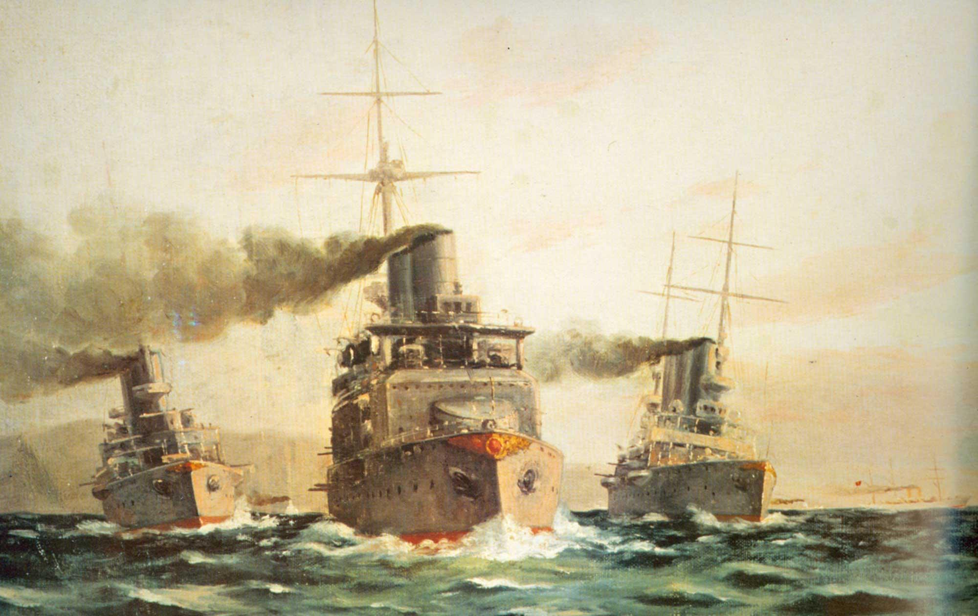 Diyarbakırlı Tahsin Türk Gemileri Tatbikatta