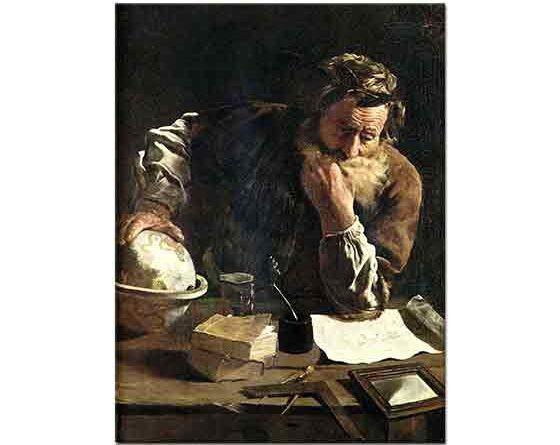 Domenico Fetti Arşimed Düşünürken - Archimedes Thoughtful