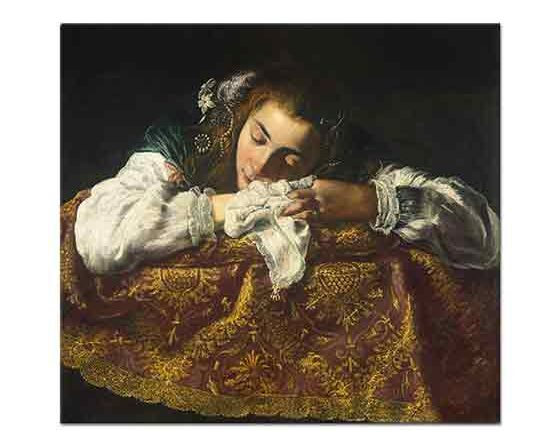 Domenico Fetti Uyuyan Kız - Sleeping Girl