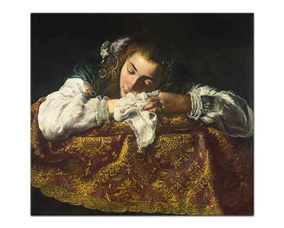 Domenico Fetti Uyuyan Kız - Sleeping Girl