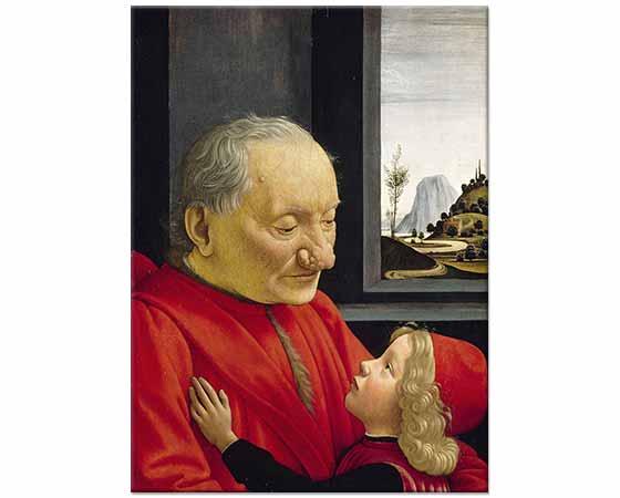 Domenico Ghirlandaio Yaşlı Adam ve Torunu