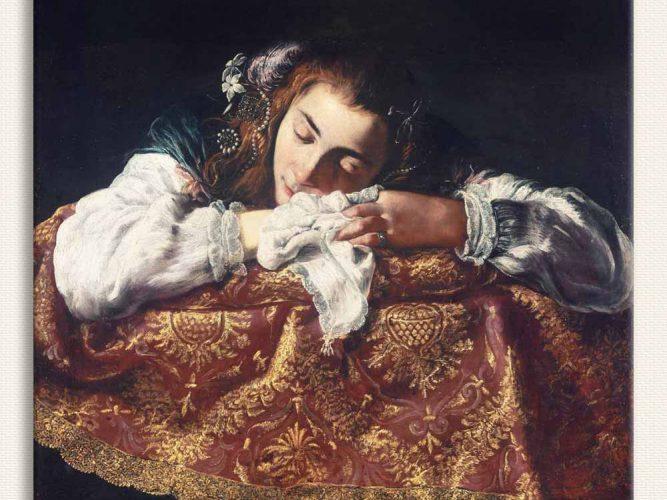 Domenico Fetti Uyuyan Kız tablosu