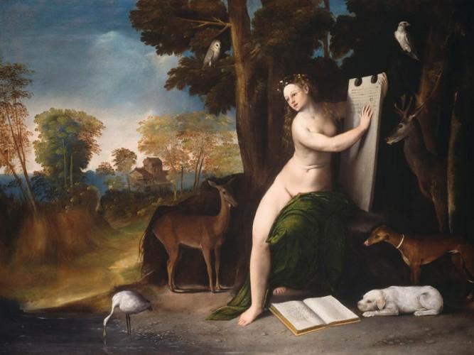 Dosso Dossi Kirke ve Aşıkları tablosu