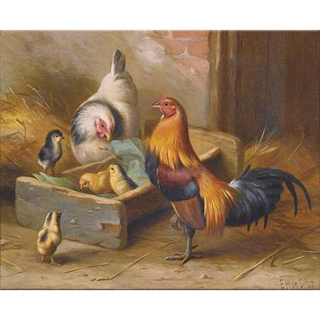 Edgar Hunt Tavuk Horoz ve Civcivler