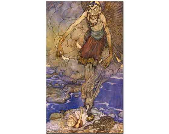 Edmund Dulac, Sinbad'ın Cinini Keşfetmesi