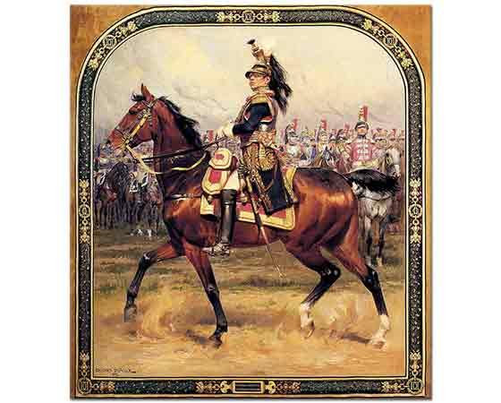 Edouard Detaille General d'Hautpoul a Cheval