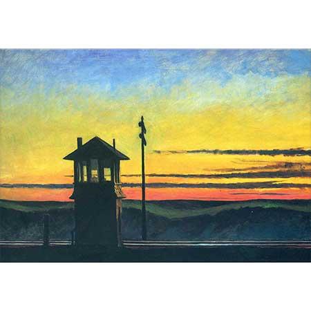 Edward Hopper Demiryolunda Gün Batımı