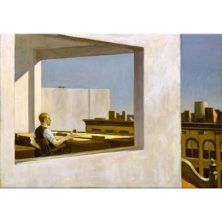 Edward Hopper Küçük Şehirde Ofis
