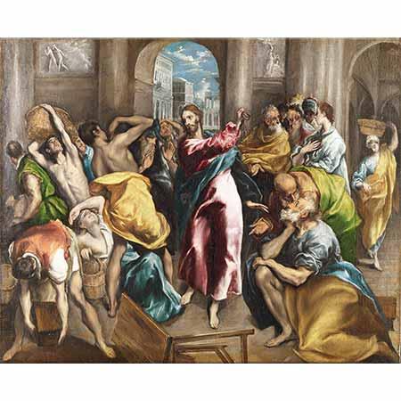 El Greco İsa Tacirleri Tapınaktan Kovarken