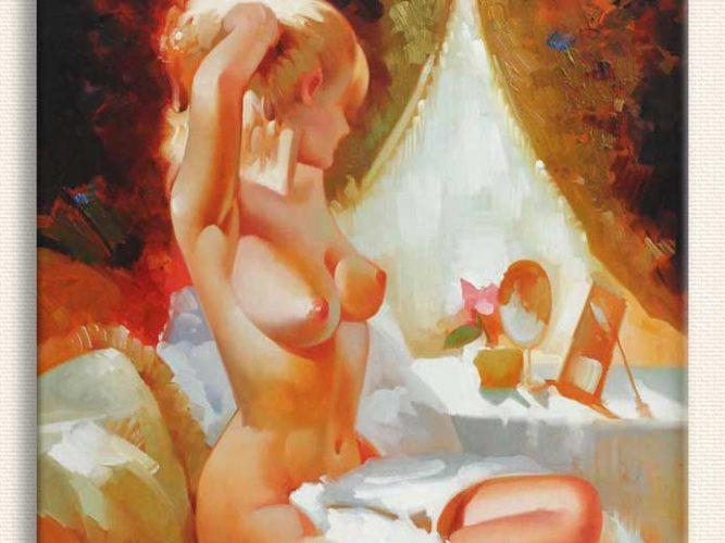 Elçi Erdiren Yatakta Nü tablosu