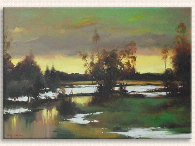 Elçi Erdiren Göl Manzarası tablosu