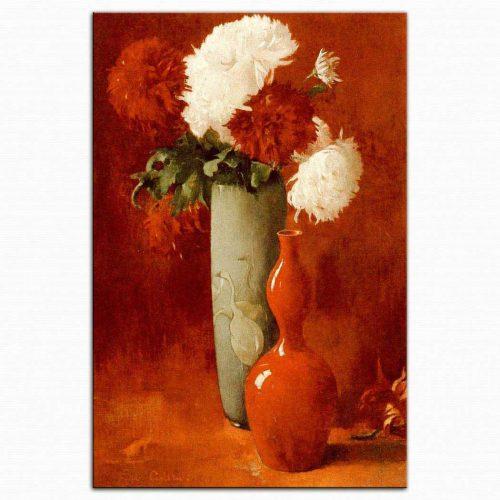 Emil Carlsen Vazolar ve Çiçekler