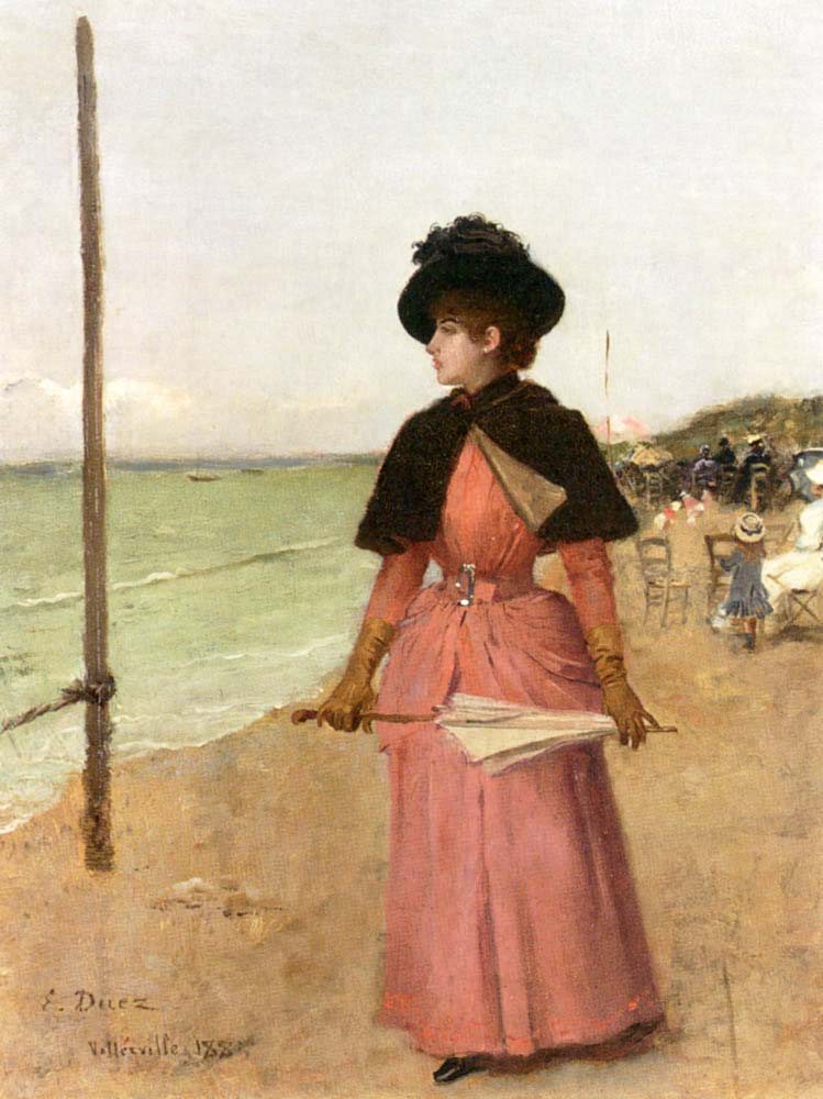Ernest Ange Duez Plajda Nazik Kadın