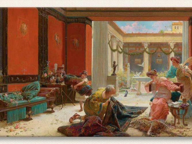 Ettore Forti Halı Satıcısı tablosu