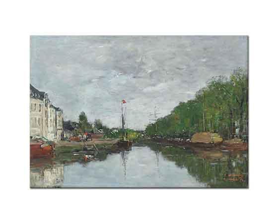 Eugene Boudin Bruxelles'de Kanal