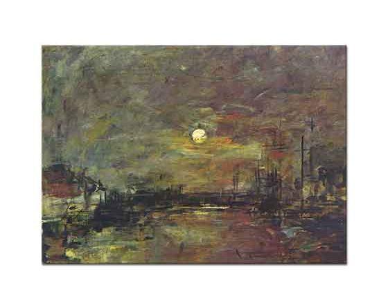 Eugene Boudin Le Havre Limanında Akşam