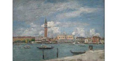 Eugene Boudin San Marco Meydanı Venedik