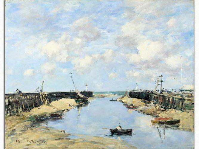 Eugene Boudin Trouville Limanı Girişi
