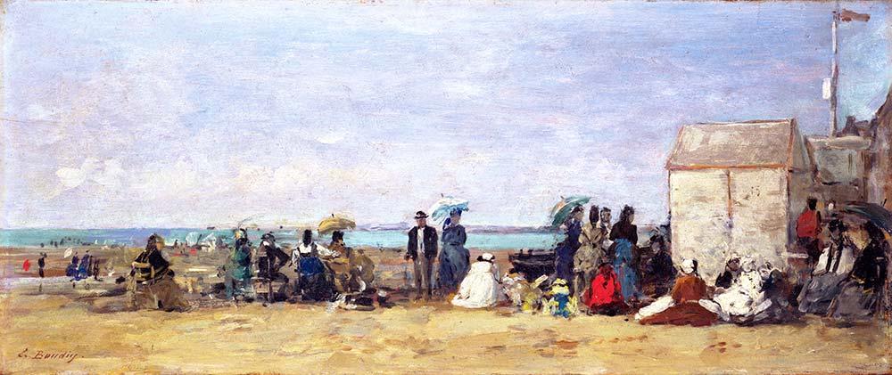 Eugene Boudin Trouville Sahili Manzarası